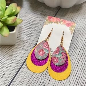 🍁Gorgeous🍁Fall Into Floral Triple Layer Earrings